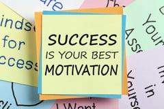 Het succes is uw beste motivatieconcept stock foto's