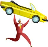 Het succes van de auto Stock Foto