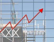 Het succes van de bouw Stock Afbeeldingen