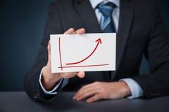 Het succes van de de groeivooruitgang royalty-vrije stock fotografie