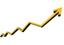 Het Succes van de grafiek Stock Afbeelding