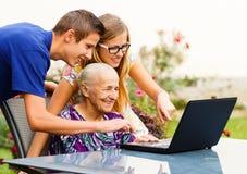 Het Succes van de grootmoeder stock fotografie