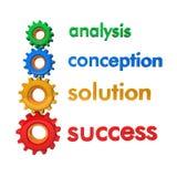 Het Succes van de Oplossing van de Conceptie van de analyse stock illustratie