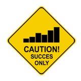 Het succes van de voorzichtigheid slechts stats Royalty-vrije Stock Afbeelding