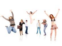 Het succes van de vreugde Stock Foto's