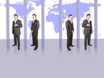 Het succes van de zakenman stock afbeelding