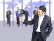 Het succes van de zakenman stock foto's