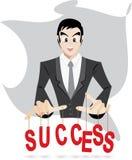 Het succes van de zakenmancontrole Royalty-vrije Stock Afbeeldingen