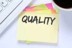 Het succes van het bedrijfs kwaliteitscontrolebeheer succesvol bureau Royalty-vrije Stock Afbeeldingen
