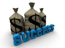 Het succes van het geld Stock Foto