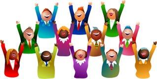 Het succes van het team Stock Afbeelding