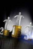 Het succesconcept van het geld Stock Foto