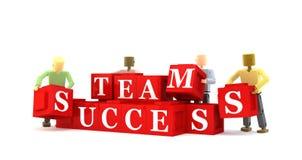 Het succesconcept van het team Stock Afbeelding