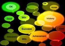 Het succesgroep van Word Stock Afbeelding