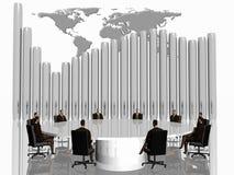 Het succesteam in conferentie. vector illustratie