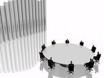 Het succesteam in de vergaderingsruimte in conferentie. stock illustratie