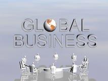 Het succesteam in globale conferentie. stock illustratie
