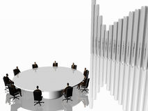 Het succesteam in zitting. vector illustratie