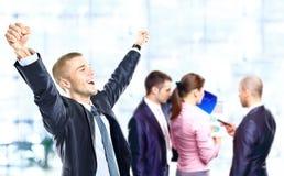 Het succesvolle bedrijfsmens vieren royalty-vrije stock afbeelding