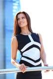Het succesvolle bedrijfsvrouw glimlachen royalty-vrije stock foto