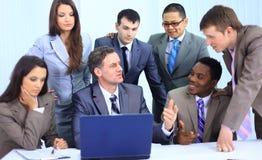 Het succesvolle commerciële team werken Stock Afbeeldingen