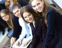 Het succesvolle commerciële team werken Royalty-vrije Stock Foto
