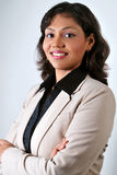 Het succesvolle Indische bedrijfsvrouw glimlachen Stock Afbeeldingen