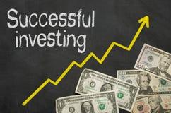 Het succesvolle investeren Royalty-vrije Stock Foto's