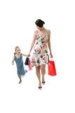 Het succesvolle shoping Stock Foto