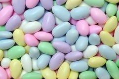 Het suikergoed in ei vormt voor de dag van Pasen Stock Afbeeldingen