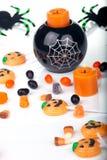 Het suikergoed en de kaarsen van Halloween Royalty-vrije Stock Afbeelding