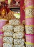 Het suikergoed en de popcorn van Coton Royalty-vrije Stock Afbeeldingen