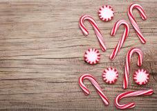 Het Suikergoed en het Riet van de Kerstmispepermunt Royalty-vrije Stock Foto's