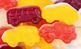 Het suikergoed multi-colored auto's van het fruit stock foto's
