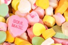 Het Suikergoed van de Boezemvriend van de Dag van valentijnskaarten Stock Foto's