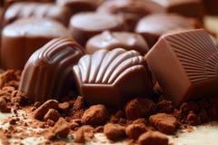 Het suikergoed van de chocolade stock foto