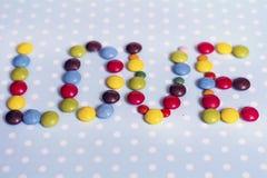 Het suikergoed van de chocolade Het concept van de liefde Stock Foto