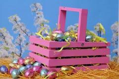 Het suikergoed van de eichocolade voor Pasen-dag Stock Afbeelding