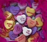 Het suikergoed van de het hartliefde van valentijnskaarten Royalty-vrije Stock Afbeeldingen
