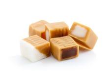 Het suikergoed van de karamel op wit stock afbeelding