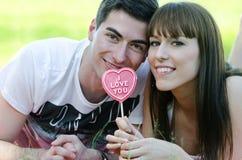 Het suikergoed van de liefde Stock Foto