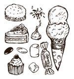 Het suikergoed van de schets Royalty-vrije Stock Fotografie