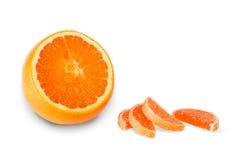 Het suikergoed van de sinaasappel en van het fruit Stock Afbeeldingen