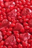 Het suikergoed van de valentijnskaart Stock Foto