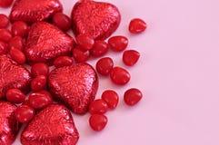 Het suikergoed van de valentijnskaart stock afbeeldingen