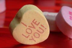 Het suikergoed van de valentijnskaart. stock foto's