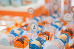Het suikergoed van de verjaardagspartij Stock Foto