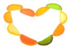 Het suikergoed van het fruit als frame Royalty-vrije Stock Foto
