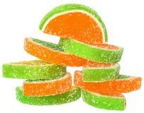 Het suikergoed van het stapelfruit royalty-vrije stock fotografie