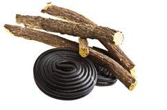 Het suikergoed van het zoethout stock afbeelding